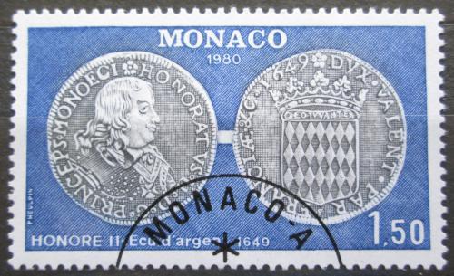 Poštovní známka Monako 1980 Mince Mi# 1427