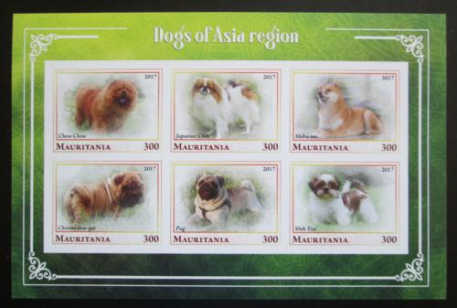 Poštovní známky Mauritánie 2017 Asijští psi neperf. Mi# N/N