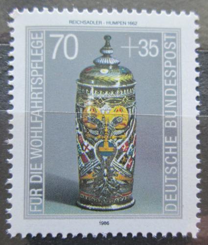 Poštovní známka Nìmecko 1986 Sklenìný korbel Mi# 1297