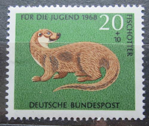 Poštovní známka Nìmecko 1968 Vydra øíèní Mi# 550