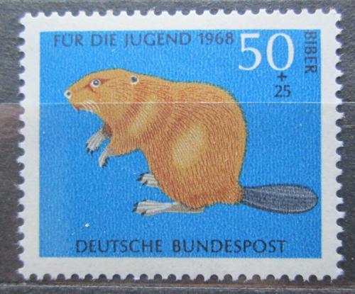 Poštovní známka Nìmecko 1968 Bobr evropský Mi# 552