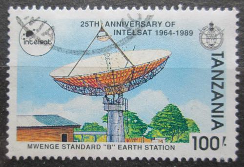 Poštovní známka Tanzánie 1991 Pozemní satelit Mwenge Mi# 908