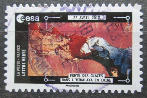 Poštovní známka Francie 2018 Satelitní snímek ledovcù v Himalájích