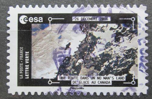 Poštovní známka Francie 2018 Satelitní snímek ledovcù v Kanadì Mi# 7026
