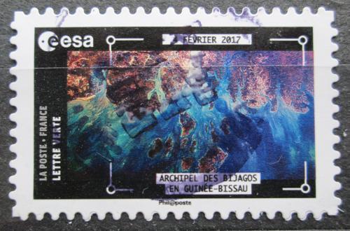 Poštovní známka Francie 2018 Satelitní snímek Guinea-Bissau Mi# 7021