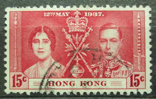 Poštovní známka Hongkong 1937 Královský pár Mi# 137 Kat 6€