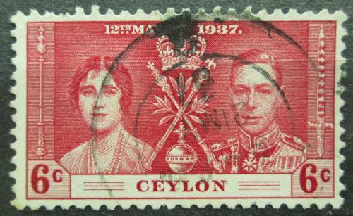 Poštovní známka Cejlon 1937 Královský pár Mi# 227