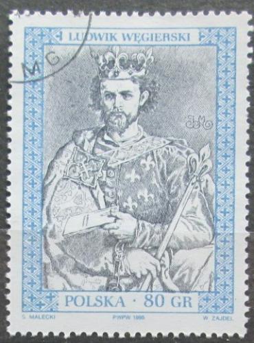 Poštovní známka Polsko 1995 Král Ludvík I. Uherský Mi# 3524