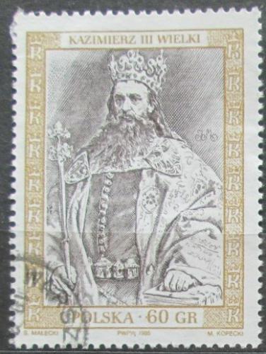 Poštovní známka Polsko 1995 Král Kazimír III. Mi# 3523