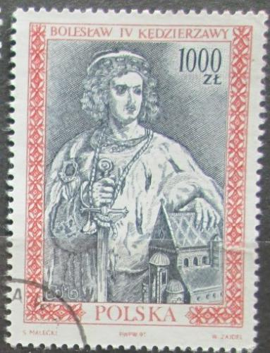 Poštovní známka Polsko 1991 Král Boleslav IV. Mi# 3326