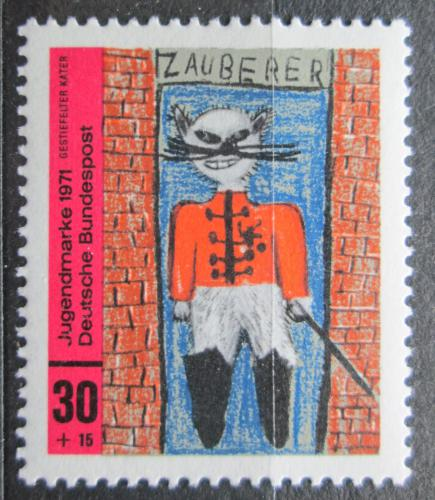 Poštovní známka Nìmecko 1971 Dìtská kresba Mi# 662