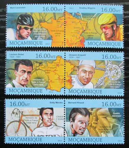 Poštovní známky Mosambik 2013 Tour de France, cyklistika Mi# 6448-53