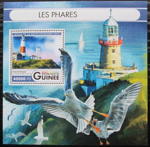 Poštovní známka Guinea 2016 Majáky Mi# Block 2686 Kat 16€