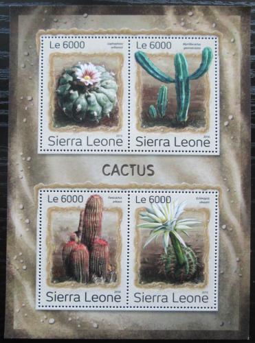 Poštovní známky Sierra Leone 2016 Kaktusy Mi# 7918-21 Kat 11€