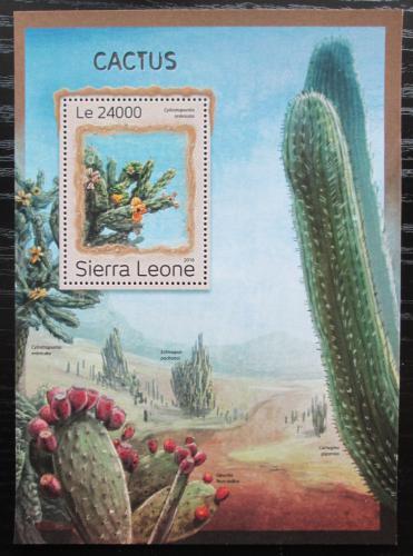 Poštovní známka Sierra Leone 2016 Kaktusy Mi# Block 1116 Kat 11€