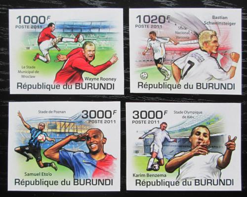 Poštovní známky Burundi 2011 Fotbalisti neperf. Mi# 2138-41 B