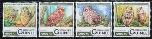 Poštovní známky Guinea 2015 Sovy Mi# 11936-39 Kat 16€