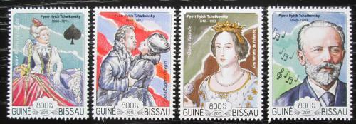 Poštovní známky Guinea-Bissau 2015 Petr Iljiè Èajkovskij Mi# 7625-28 Kat 13€