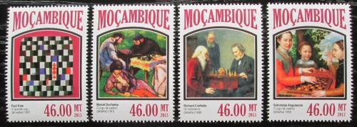 Poštovní známky Mosambik 2013 Šachy a umìní Mi# 6907-10 Kat 11€