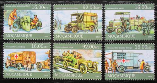 Poštovní známky Mosambik 2013 Historická vojenská vozidla Mi# 6630-35 Kat 14€