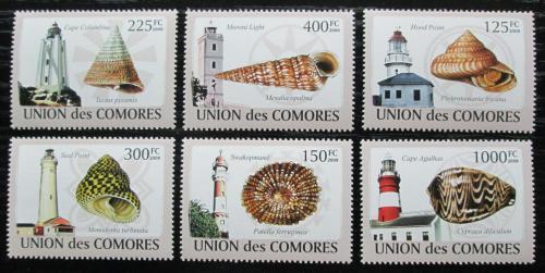 Poštovní známky Komory 2009 Mušle a majáky Mi# 2086-91 Kat 11€