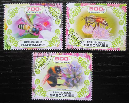 Poštovní známky Gabon 2019 Vèely Mi# N/N