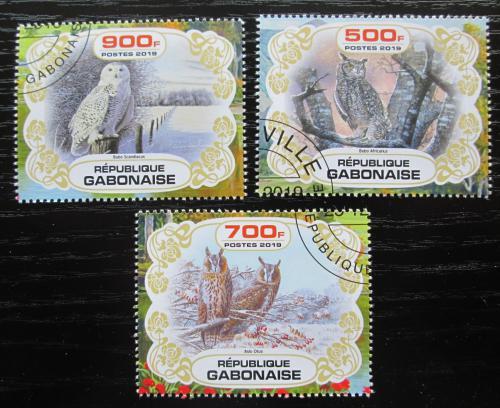 Poštovní známky Gabon 2019 Sovy Mi# N/N