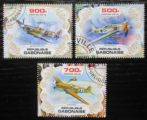 Poštovní známky Gabon 2019 Váleèná letadla Mi# N/N