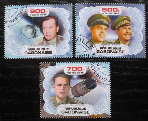 Poštovní známky Gabon 2019 Prùzkum vesmíru, sovìtští kosmonauti Mi# N/N