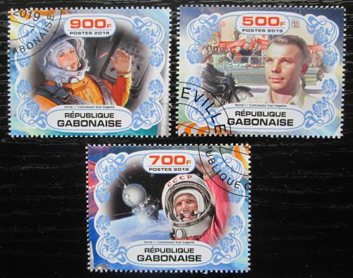 Poštovní známky Gabon 2019 Prùzkum vesmíru, Jurij Gagarin Mi# N/N