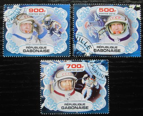Poštovní známky Gabon 2019 Prùzkum vesmíru, Alexej Leonov Mi# N/N