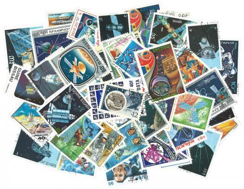 Sestava Vesmír - 250 rùzných razítkovaných známek