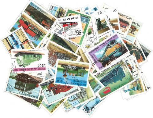Sestava Lokomotivy - 250 rùzných razítkovaných známek