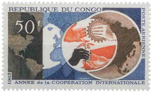 Poštovní známka Kongo 1965 Mezinárodní spolupráce Mi# 82