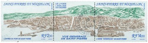 Poštovní známky St. Pierre a Miquleon 1990 Pohled na mìsto Mi# 602-03 Kat 6€