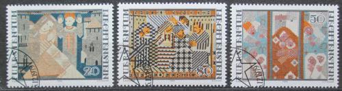 Poštovní známky Lichtenštejnsko 1979 Vánoce, vyšívání Mi# 738-40