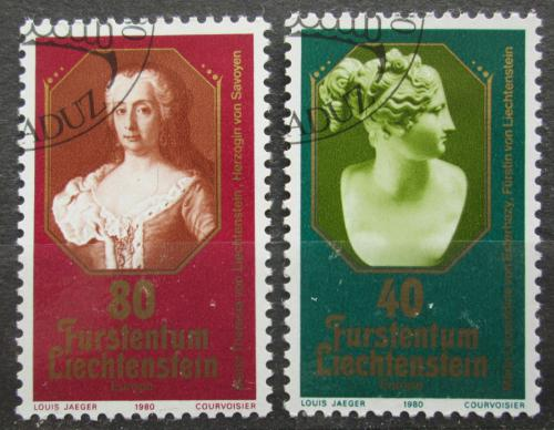 Poštovní známky Lichtenštejnsko 1980 Evropa CEPT, slavné ženy Mi# 741-42