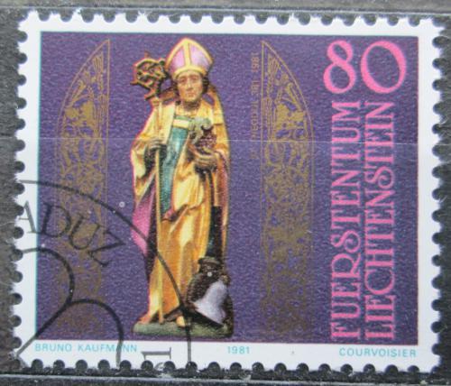 Poštovní známka Lichtenštejnsko 1981 Socha biskupa Theodula Mi# 775