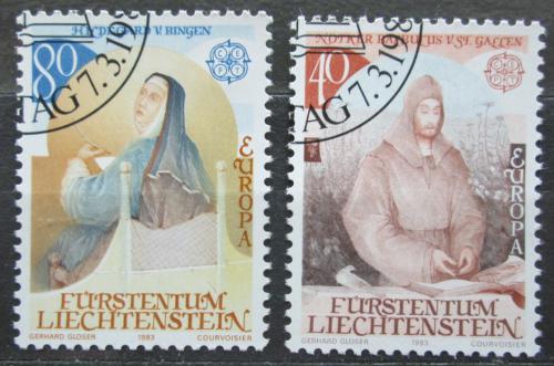 Poštovní známky Lichtenštejnsko 1983 Evropa CEPT, osobnosti Mi# 816-17