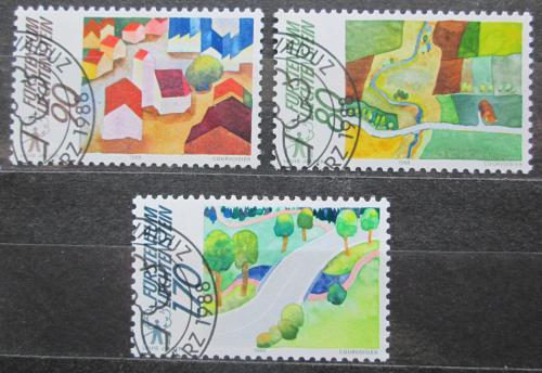 Poštovní známky Lichtenštejnsko 1988 Životní prostøedí Mi# 939-41 Kat 5€