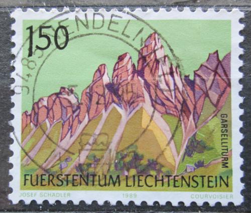 Poštovní známka Lichtenštejnsko 1989 Garsellitürme Mi# 977