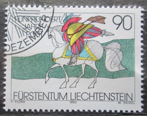 Poštovní známka Lichtenštejnsko 1990 Poštovní služby, 500. výroèí Mi# 1004