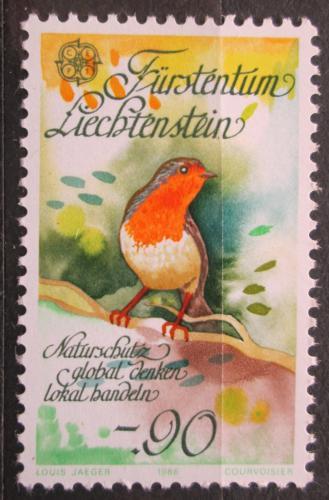 Poštovní známka Lichtenštejnsko 1986 Èervenka obecná Mi# 894