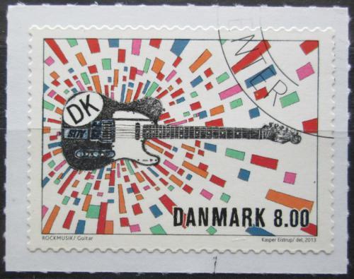 Poštovní známka Dánsko 2013 Rocková kytara Mi# 1745