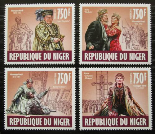 Poštovní známky Niger 2013 Giuseppe Verdi Mi# 2466-69 Kat 12€