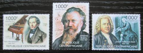 Poštovní známky SAR 2011 Hudební skladatelé Mi# 3128-30 Kat 12€
