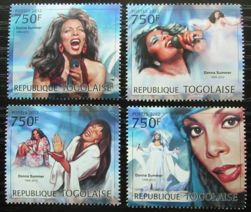 Poštovní známky Togo 2012 Donna Summer, zpìvaèka Mi# 4593-96 Kat 12€