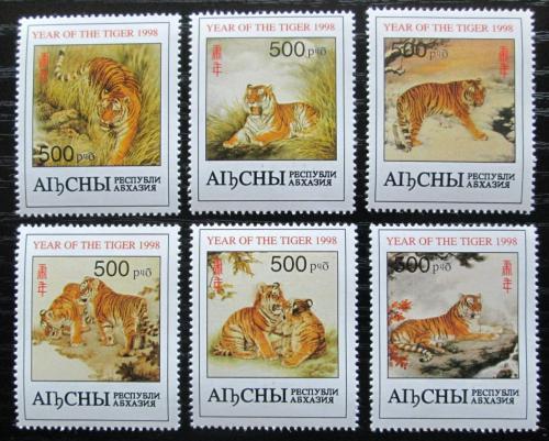 Poštovní známky Abcházie, Gruzie 1998 Tygøi Mi# N/N