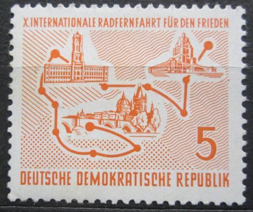 Poštovní známka DDR 1957 Závod míru Mi# 568