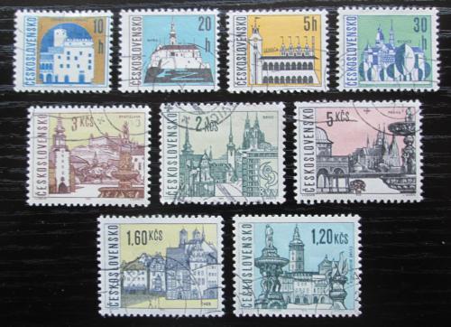 Poštovní známky Èeskoslovensko 1965 Mìsta Mi# 1574-82
